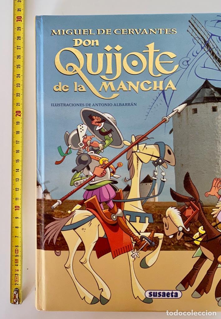 Libros antiguos: DON QUIJOTE DE LA MANCHA-MIGUEL DE CERVANTES-ILLUSTRACIONES ANTONIO ALBARRAN-SUSAETA- TAPA DURA - Foto 12 - 287493168