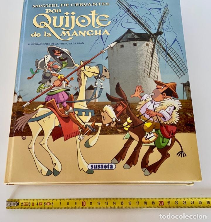 Libros antiguos: DON QUIJOTE DE LA MANCHA-MIGUEL DE CERVANTES-ILLUSTRACIONES ANTONIO ALBARRAN-SUSAETA- TAPA DURA - Foto 13 - 287493168