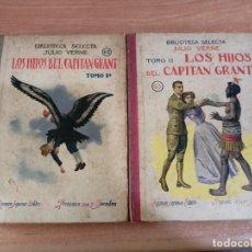 Libros antiguos: LOS HIJOS DEL CAPITÁN GRANT - TOMOS 1º Y 2º - JULIO VERNE - BIBLIOTECA SELECTA Nº 62 Y 63 - 1933. Lote 289601628