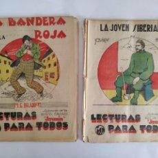 Libros antiguos: LA BANDERA ROJA Y LA JOVEN SIBERIANA LECTURAS PARA TODOS NOVELA BRADDON JAVIER MAISTRE 1933. Lote 290064488