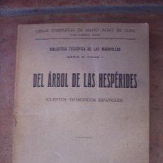 Libros antiguos: CUENTOS TEOSOFICOS ESPAÑOLES - 1923 - MARIO ROSO DE LUNA. Lote 27317570