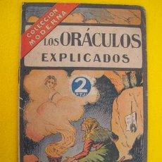 Libros antiguos: LOS ORÁCULOS EXPLICADOS. COLECCIÓN MODERNA. Lote 24206037