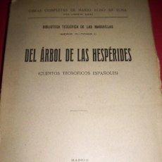 Libros antiguos: ROSO DE LUNA, MARIO - DEL ÁRBOL DE LAS HESPÉRIDES : (CUENTOS TEOSÓFICOS ESPAÑOLES). Lote 33434630