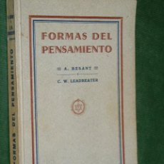Libros antiguos: FORMAS DEL PENSAMIENTO, DE A.BESANT Y C.W.LEADBEATER. Lote 35318857
