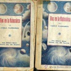Libros antiguos: FLAMMARION : DIOS EN LA NATURALEZA - DOS TOMOS (MAUCCI, C. 1920). Lote 38643961