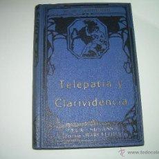 Libros antiguos: LIBRO......TELEPATIA Y CLARIVIDENCIA.. Lote 42424096