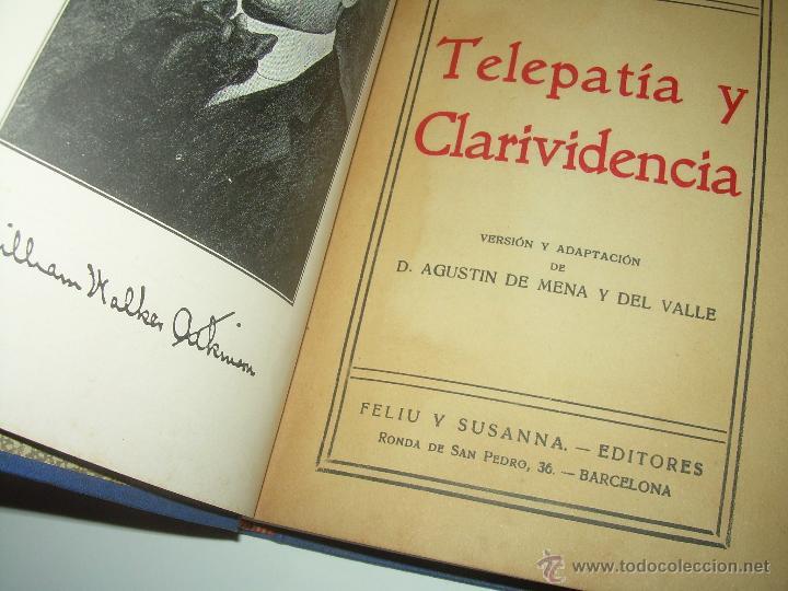 Libros antiguos: LIBRO......TELEPATIA Y CLARIVIDENCIA. - Foto 4 - 42424096
