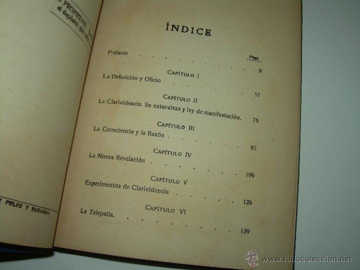 Libros antiguos: LIBRO......TELEPATIA Y CLARIVIDENCIA. - Foto 5 - 42424096