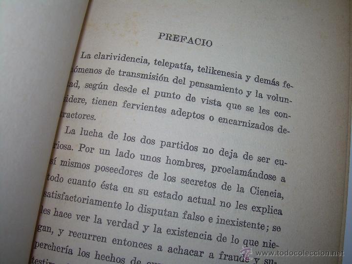 Libros antiguos: LIBRO......TELEPATIA Y CLARIVIDENCIA. - Foto 7 - 42424096
