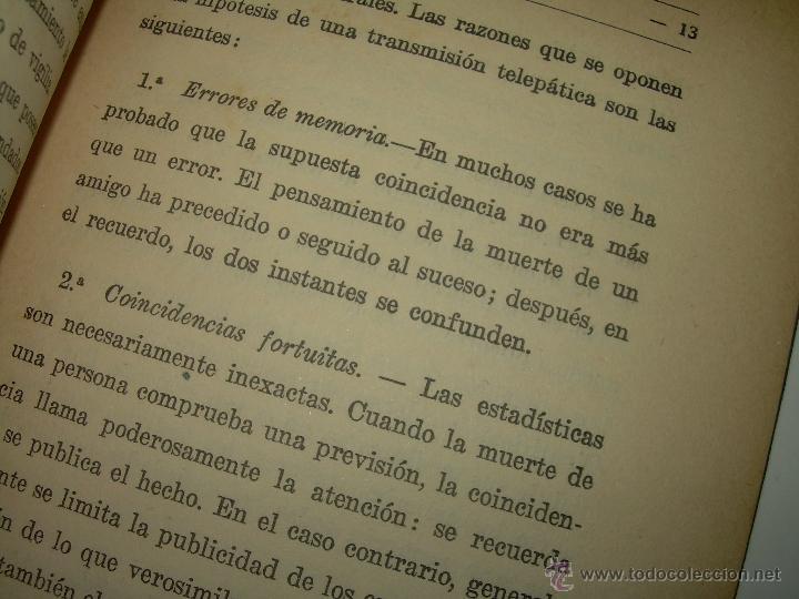 Libros antiguos: LIBRO......TELEPATIA Y CLARIVIDENCIA. - Foto 8 - 42424096