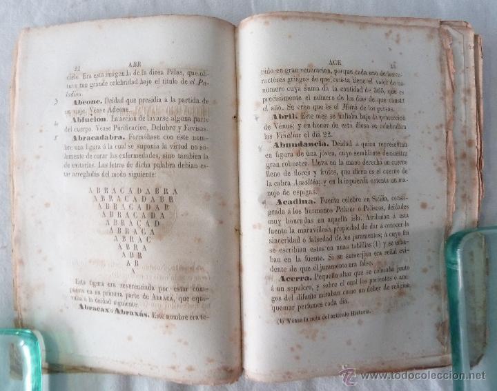 Libros antiguos: DICCIONARIO MANUAL DE LA MITOLOGÍA / DON LUIS BORDAS 1855 / MISTERIOS Y CEREMONIAS DEL CULTO PAGANO - Foto 5 - 42985918