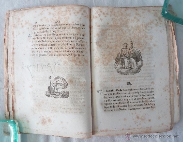 Libros antiguos: DICCIONARIO MANUAL DE LA MITOLOGÍA / DON LUIS BORDAS 1855 / MISTERIOS Y CEREMONIAS DEL CULTO PAGANO - Foto 6 - 42985918