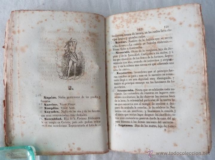 Libros antiguos: DICCIONARIO MANUAL DE LA MITOLOGÍA / DON LUIS BORDAS 1855 / MISTERIOS Y CEREMONIAS DEL CULTO PAGANO - Foto 9 - 42985918