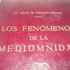Libros antiguos: LOS FENOMENOS DE LA MEDIUMNIDAD.....AÑO..1.928 (CON INFINIDAD DE FOTOGRAFIAS).. Lote 44812965