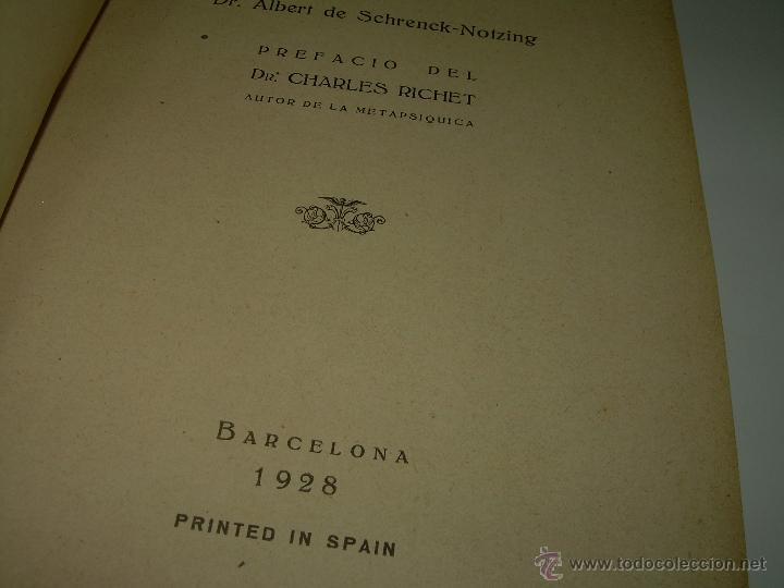 Libros antiguos: LOS FENOMENOS DE LA MEDIUMNIDAD.....AÑO..1.928 (CON INFINIDAD DE FOTOGRAFIAS). - Foto 5 - 44812965