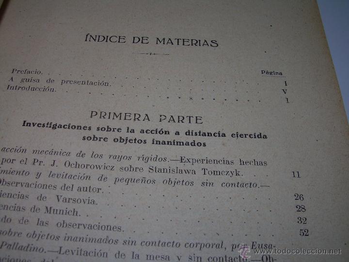 Libros antiguos: LOS FENOMENOS DE LA MEDIUMNIDAD.....AÑO..1.928 (CON INFINIDAD DE FOTOGRAFIAS). - Foto 6 - 44812965