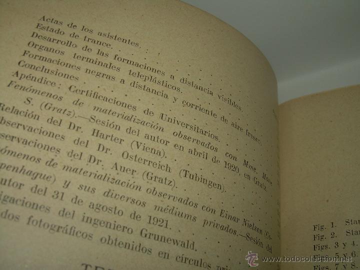 Libros antiguos: LOS FENOMENOS DE LA MEDIUMNIDAD.....AÑO..1.928 (CON INFINIDAD DE FOTOGRAFIAS). - Foto 8 - 44812965