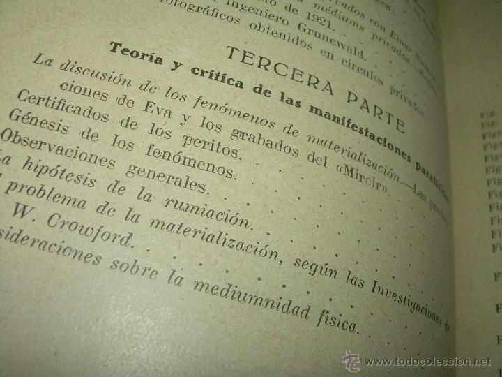 Libros antiguos: LOS FENOMENOS DE LA MEDIUMNIDAD.....AÑO..1.928 (CON INFINIDAD DE FOTOGRAFIAS). - Foto 9 - 44812965