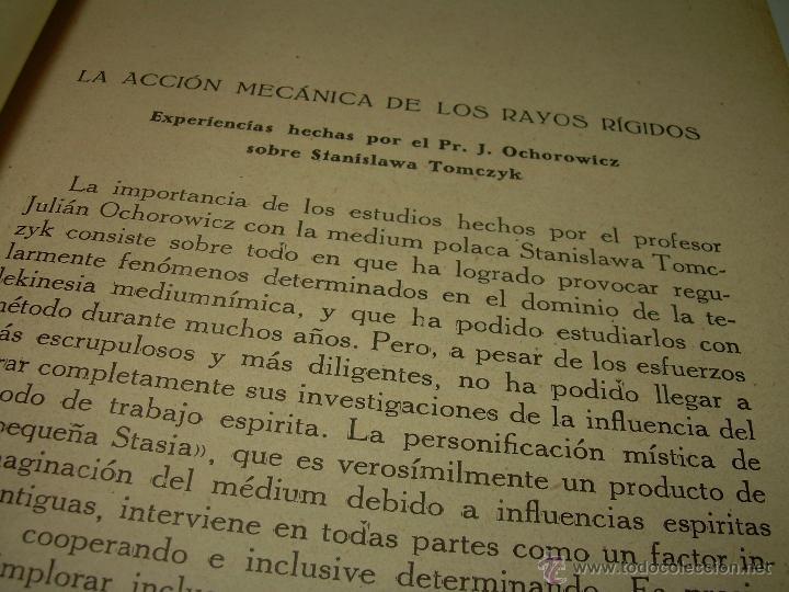 Libros antiguos: LOS FENOMENOS DE LA MEDIUMNIDAD.....AÑO..1.928 (CON INFINIDAD DE FOTOGRAFIAS). - Foto 13 - 44812965