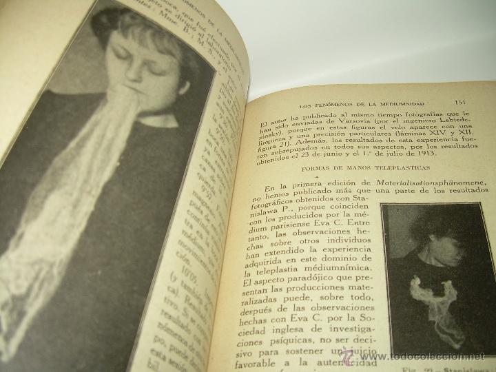Libros antiguos: LOS FENOMENOS DE LA MEDIUMNIDAD.....AÑO..1.928 (CON INFINIDAD DE FOTOGRAFIAS). - Foto 14 - 44812965