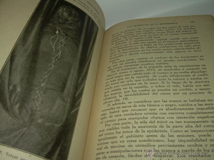 Libros antiguos: LOS FENOMENOS DE LA MEDIUMNIDAD.....AÑO..1.928 (CON INFINIDAD DE FOTOGRAFIAS). - Foto 15 - 44812965