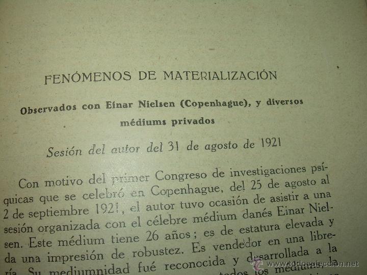 Libros antiguos: LOS FENOMENOS DE LA MEDIUMNIDAD.....AÑO..1.928 (CON INFINIDAD DE FOTOGRAFIAS). - Foto 16 - 44812965