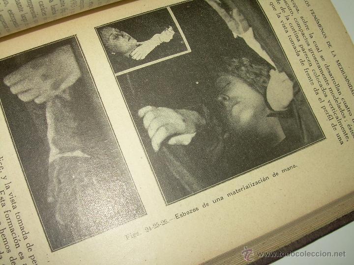 Libros antiguos: LOS FENOMENOS DE LA MEDIUMNIDAD.....AÑO..1.928 (CON INFINIDAD DE FOTOGRAFIAS). - Foto 17 - 44812965
