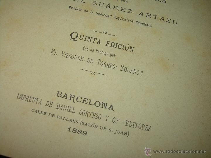 Libros antiguos: PAGINAS DE ULTRATUMBA...MARIETTA Y ESTRELLA...AÑO..1.899 - Foto 4 - 44833446