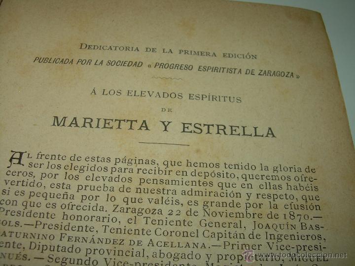 Libros antiguos: PAGINAS DE ULTRATUMBA...MARIETTA Y ESTRELLA...AÑO..1.899 - Foto 6 - 44833446