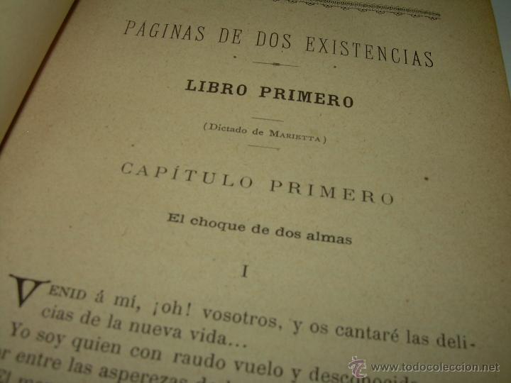 Libros antiguos: PAGINAS DE ULTRATUMBA...MARIETTA Y ESTRELLA...AÑO..1.899 - Foto 8 - 44833446