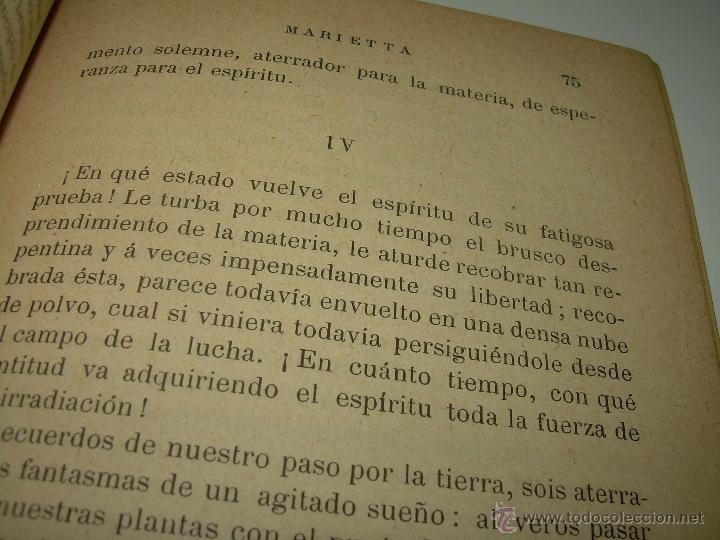 Libros antiguos: PAGINAS DE ULTRATUMBA...MARIETTA Y ESTRELLA...AÑO..1.899 - Foto 9 - 44833446