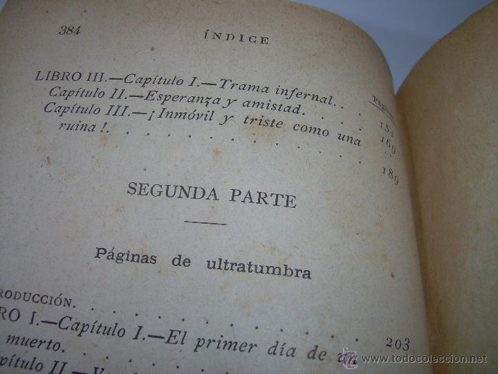 Libros antiguos: PAGINAS DE ULTRATUMBA...MARIETTA Y ESTRELLA...AÑO..1.899 - Foto 13 - 44833446