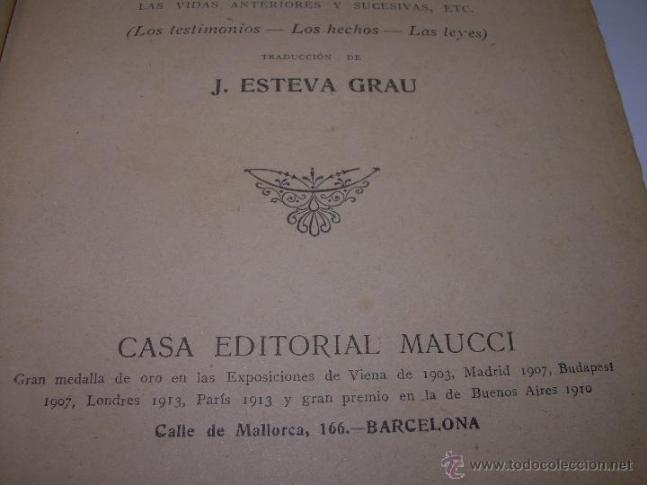 Libros antiguos: EL PROBLEMA DEL SER Y DEL DESTINO....LEON DENIS. - Foto 2 - 48517210