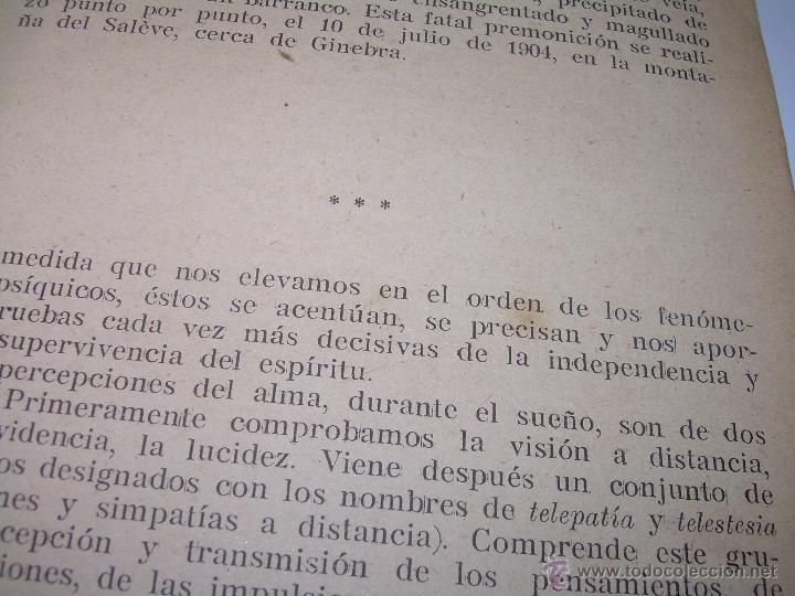 Libros antiguos: EL PROBLEMA DEL SER Y DEL DESTINO....LEON DENIS. - Foto 7 - 48517210