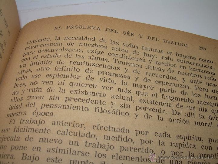 Libros antiguos: EL PROBLEMA DEL SER Y DEL DESTINO....LEON DENIS. - Foto 10 - 48517210