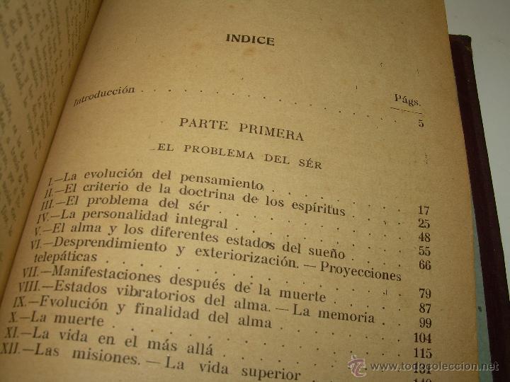 Libros antiguos: EL PROBLEMA DEL SER Y DEL DESTINO....LEON DENIS. - Foto 12 - 48517210