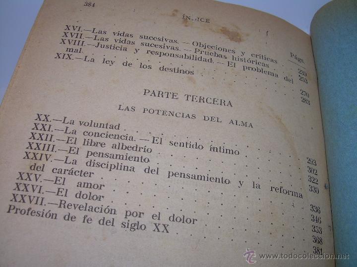 Libros antiguos: EL PROBLEMA DEL SER Y DEL DESTINO....LEON DENIS. - Foto 14 - 48517210