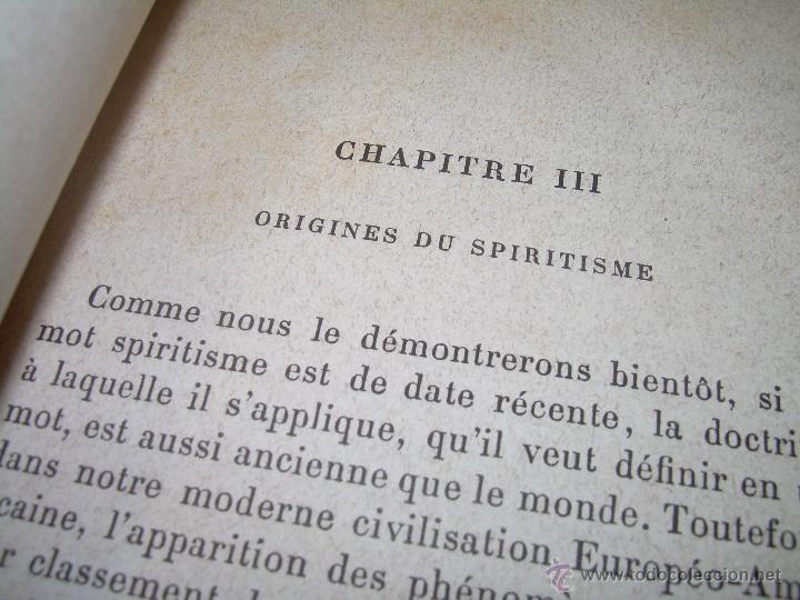Libros antiguos: LIBRO TAPAS DE PIEL.......LE SPIRITISME ..( FAKIRISME OCCIDENTAL)...AÑO 1.887...CON GRABADOS Y FOTOS - Foto 7 - 48560301