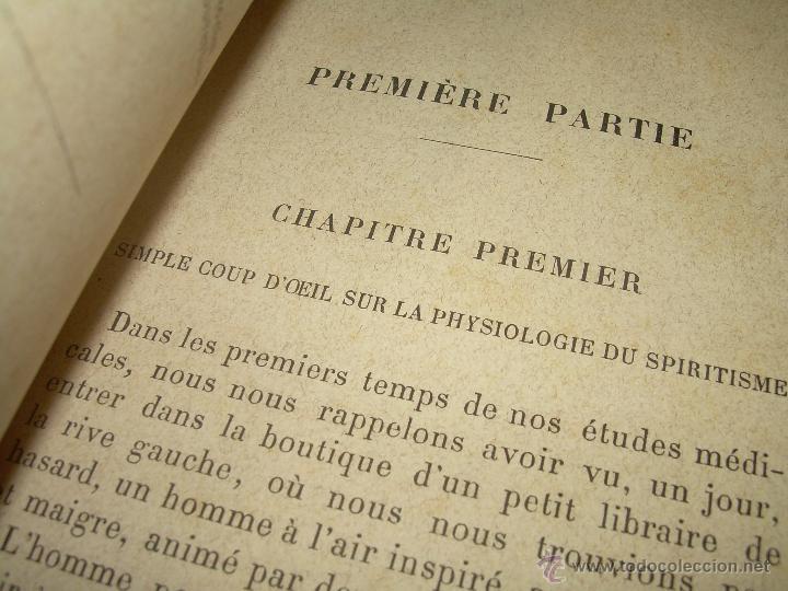 Libros antiguos: LIBRO TAPAS DE PIEL.......LE SPIRITISME ..( FAKIRISME OCCIDENTAL)...AÑO 1.887...CON GRABADOS Y FOTOS - Foto 8 - 48560301