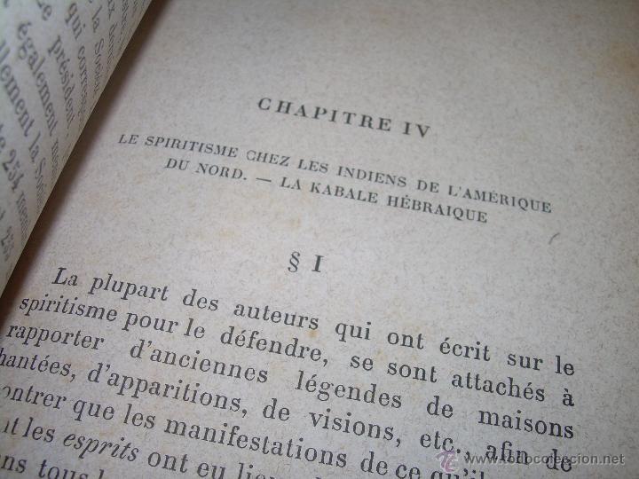 Libros antiguos: LIBRO TAPAS DE PIEL.......LE SPIRITISME ..( FAKIRISME OCCIDENTAL)...AÑO 1.887...CON GRABADOS Y FOTOS - Foto 9 - 48560301