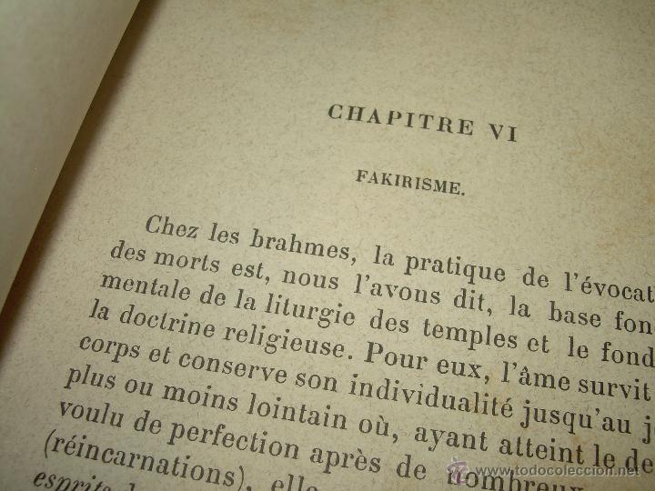 Libros antiguos: LIBRO TAPAS DE PIEL.......LE SPIRITISME ..( FAKIRISME OCCIDENTAL)...AÑO 1.887...CON GRABADOS Y FOTOS - Foto 10 - 48560301
