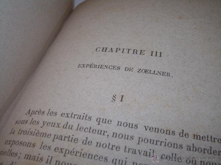 Libros antiguos: LIBRO TAPAS DE PIEL.......LE SPIRITISME ..( FAKIRISME OCCIDENTAL)...AÑO 1.887...CON GRABADOS Y FOTOS - Foto 19 - 48560301