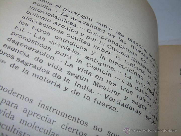 Libros antiguos: EL MISTERIO DE LA VIDA.......AÑO..1.904....CON FOTOGRAFIAS Y GRABADOS. - Foto 11 - 49733062