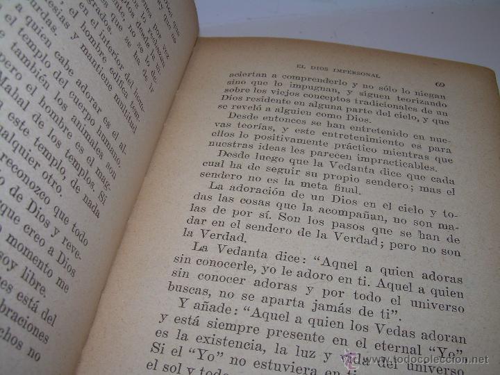 Libros antiguos: ANTIGUO LIBRO.....VEDANTA PRACTICA. - Foto 6 - 49541260