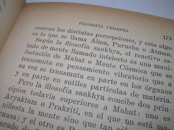 Libros antiguos: ANTIGUO LIBRO.....VEDANTA PRACTICA. - Foto 8 - 49541260
