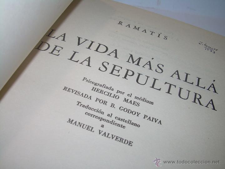 LIBRO..LA VIDA MAS ALLA DE LA SEPULTURA.....RAMATIS (Libros Antiguos, Raros y Curiosos - Parapsicología y Esoterismo)