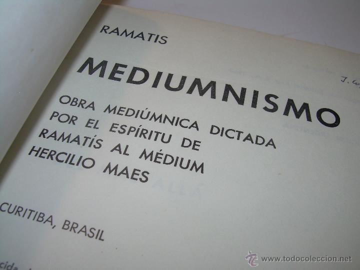 LIBRO.....MEDIUNISMO.....RAMATIS (Libros Antiguos, Raros y Curiosos - Parapsicología y Esoterismo)