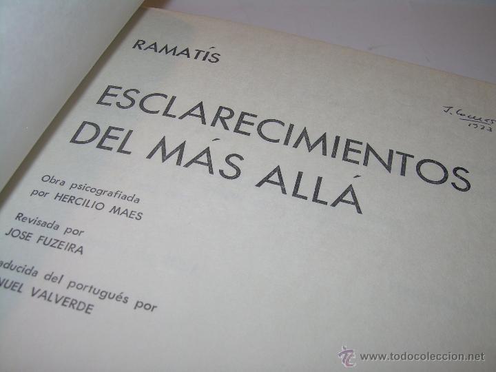 LIBRO....ESCLARECIMIENTOS DEL MAS ALLA....RAMATIS (Libros Antiguos, Raros y Curiosos - Parapsicología y Esoterismo)