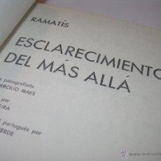 Libros antiguos: LIBRO....ESCLARECIMIENTOS DEL MAS ALLA....RAMATIS. Lote 49769626