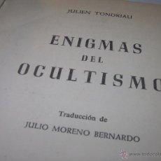 Libros antiguos: LIBRO....ENIGMAS DEL OCULTISMO.. Lote 49774715